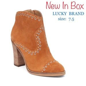 LUCKY BRAND Marionn Suede Ankle Bootie (7.5)
